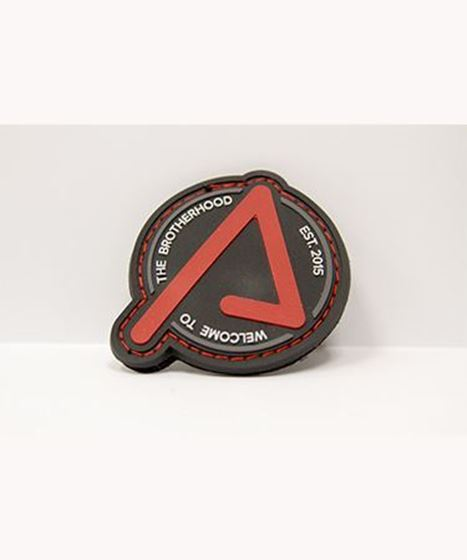 Picture of Agency Patch Red on Black