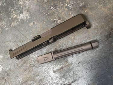Picture of Glock® 19 Gen 5® Compatible FDE Mid Line Match Grade Barrel